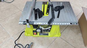 """🧨🔥🧨 Ryobi 10"""" table saw with accessories only 70$!!!🧨🔥🧨 perfect for around the hose projects for Sale in Fort Worth, TX"""