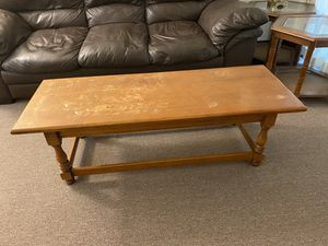 Wooden coffee table for Sale in Moon, PA