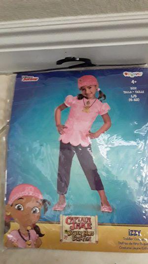 Disney Junior Captain Jake Never Land Pirates - IZZY -Toddler Costume Large 4-6x for Sale in Henderson, NV