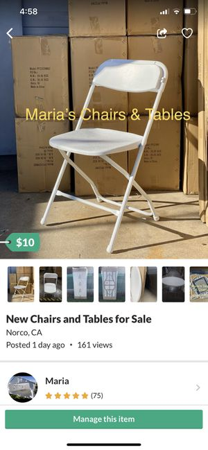 New Chairs, Tables & Canopies for Sale for Sale in Montclair, CA
