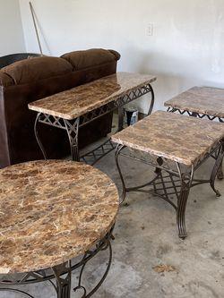 Set of 4 Solid Granite Tables for Sale in Cedar Park,  TX