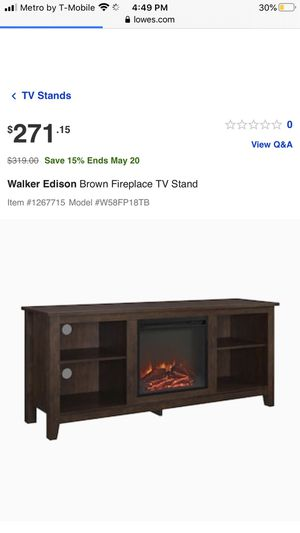 Fire place tv stand for Sale in Kissimmee, FL