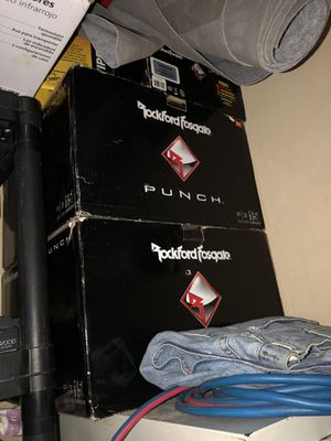 Rockford Fosgate PUNCH 2- 15s and p1000x1bd Amp for Sale in Phoenix, AZ
