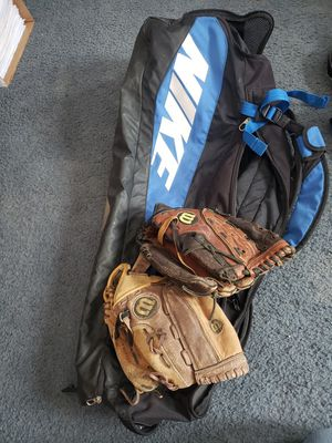 Bag and 2 mitts for Sale in Colfax, WI