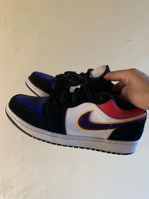 air jordan 1 low rivals LAKERS size 9 for Sale in Mission Viejo, CA