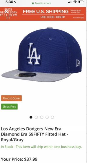 Two LOS ANGELES DODGERS HATS 7 1/8 NEW for Sale in Kingsburg, CA