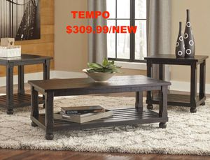 Malacar 3 PC Coffee Table Set, Black for Sale in Fountain Valley, CA