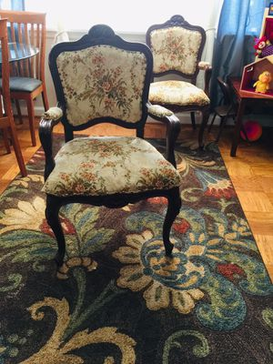 Antique Hand Carved French Provincial Chairs. REDUCED for Sale in Falls Church, VA