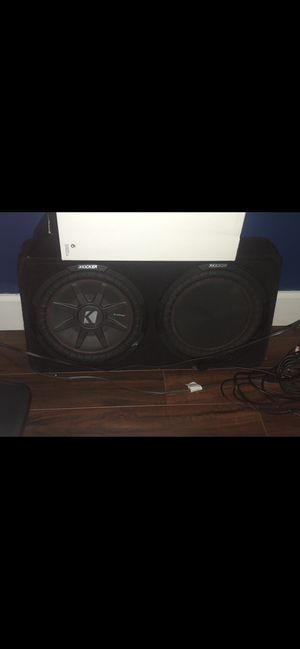 TWO 12s like new in box $150 two amps kicker$85 for Sale in Miami, FL