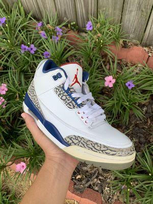 """Jordan 3 retro """" true blues"""" for Sale in Friendswood, TX"""