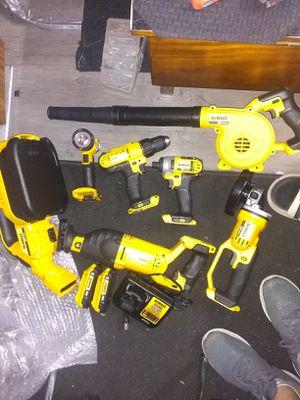 7 piece DeWalt battery power tool set for Sale in Hudson, FL
