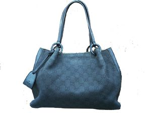 Authentic Gucci black GG denim and leather hobo handbag for Sale in Jackson, MS