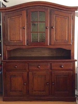 Belgian Oak Hutch Refinished Cabinet Shelving Shelves for Sale in Crofton, MD