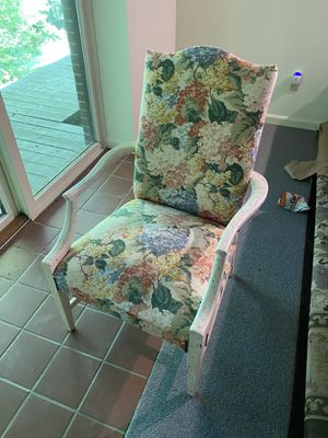 Upholstered wooden chair for Sale in Moreland Hills, OH