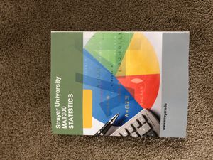 Strayer University MAT 300 Statistics for Sale in Durham, NC