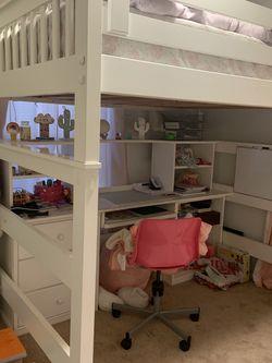 Full Size Bunk Bed & Desk for Sale in Deltona,  FL