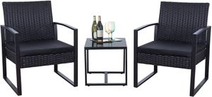 3 Pieces Patio Furniture Set Rattan Chairs and Table for Sale in Phoenix, AZ