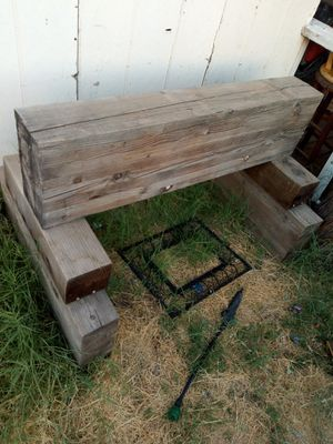 AWESOME WOOD BEAMS GREAT FOR PROJECT (TABLE,SADDLE RACK, ECT..) ASKING $140 MUST PICK UP HEAVYY DUTY WILL HELP LOAD for Sale in Phoenix, AZ