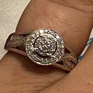 Sterling silver diamond promise ring for Sale in Spring Lake, NC