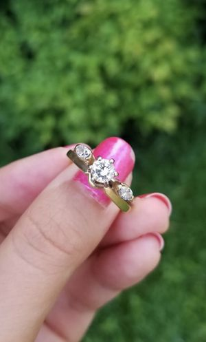 14k gold 2 piece natural diamond engagement wedding ring for Sale in San Juan Capistrano, CA