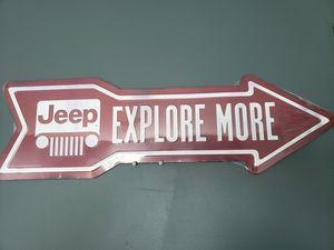 """Metal Sign JEEP EXPLORE MORE 27""""X8"""" for Sale in Hudson, OH"""
