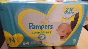 Pampers newborn swaddlers 84 count (NEW) for Sale in Glendale, AZ