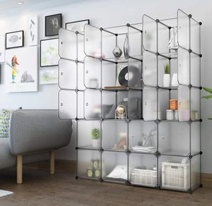 LANGRIA 20 Cubby Shelving Closet System Cube Organizer Plastic Storage Cubes Drawer Unit, Bookcase Cabinet. NO TOOLS NEEDED! for Sale in Los Angeles, CA