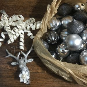Silver Christmas Tree Decor for Sale in Houston, TX