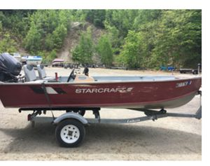 Starcraft fishing boat w/ trailer for Sale in Brentwood, PA