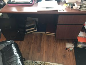 Heavy Cherry executive desk for Sale in Crete, IL