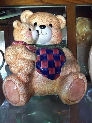 Teddy Bear cookie jar for Sale in Fresno, CA