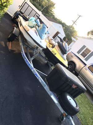 Bombardier jet skiis and trailer for Sale in Millersville, MD