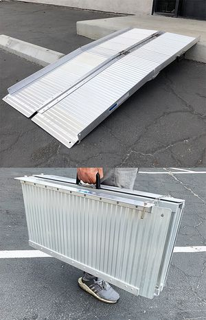 """New in box $115 Aluminum 5' ft Portable Multifold Wheelchair Scooter Mobility Ramp (60""""x28"""") for Sale in South El Monte, CA"""