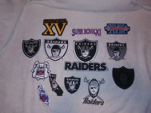 Oakland raiders patches set of 13 for Sale in Sanger, CA