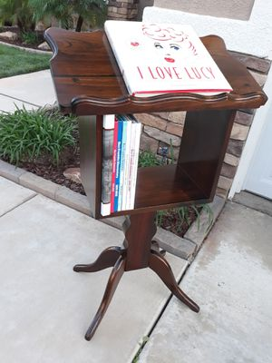 "SMALL VINTAGE WOODEN PODIUM / MUSIC STAND (23""W×14""D×40""H) for Sale in Corona, CA"