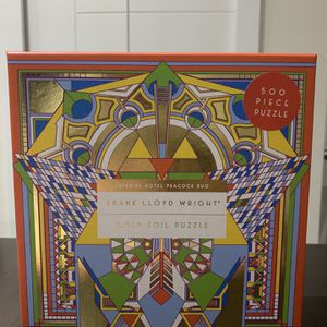 Frank Lloyd Wright Gold Foil Puzzle for Sale in Miami, FL