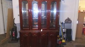 China cabinet dark wood for Sale in North Fort Myers, FL
