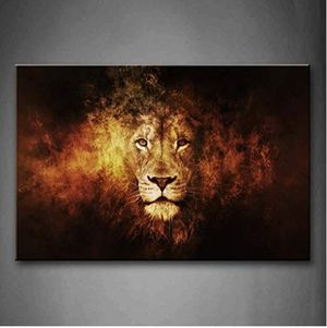Lion Head Canvas Wall Painting Print for Sale in Topeka, KS