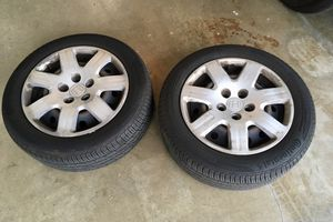 """16"""" Steelies (2) with tires for Sale in Long Beach, CA"""