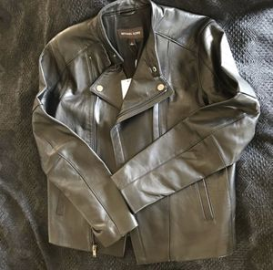 Authentic Men's Michael Kors Leather Jacket for Sale in Chino Hills, CA