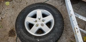 2012 Jeep wrangler wheel and tire for Sale in Fort Worth, TX