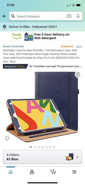 ZoneFoker 4.6 out of 5 stars 4,872 Reviews ZoneFoker Case for New iPad 8th / 7th Generation Case, iPad 10.2 Case, 360 Protection Multi-Angle Viewing for Sale in Hollywood, FL