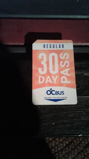 30 DAY OCTA Adult Bus Pass for Sale in Costa Mesa, CA