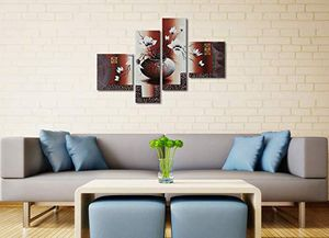 Oil Wall Art Flowers Painting Decor Paint Home Office Living Elegant Modern for Sale in Marquette, MI