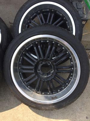 Black Chrome 20 inch Rims tires wheels for Sale in Glendale Heights, IL