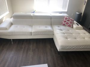 White leather couch for Sale in Washington, DC