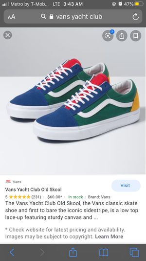 Vans Old Skool Yacht Club Size 7 for Sale in West Palm Beach, FL