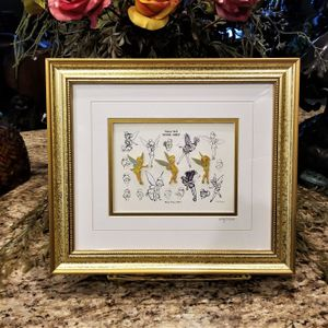 NEW Walt Disney Galley Tinkerbell Sketches Limited Edition Framed Pin Set COA for Sale in Phoenix, AZ