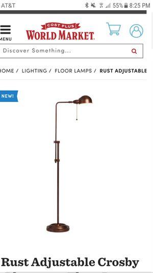 World Market Adjustable Rust Floor Lamp for Sale in Dallas, TX