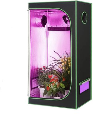 Grow Tent Reflective Garden Growing Room with Observation Window and Removable Floor Tray for Indoor Gardening Plant Growing (Green-24''x24''x48'') for Sale in Colonial Heights, VA